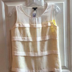 💕🌺new Ann Taylor Petite yellow blouse Sz 6P